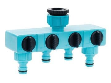 Flopro Four Way Tap Connector 12.5mm (1/2in)